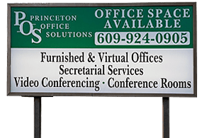 Princeton Office Solutions road sign