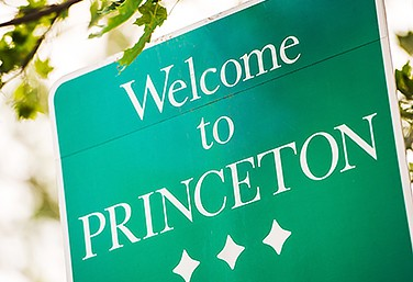 welcome sign for princeton virtual office rentals